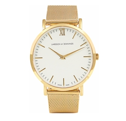 Lugano Gold-Plated Watch by Larsson & Jennings in Power