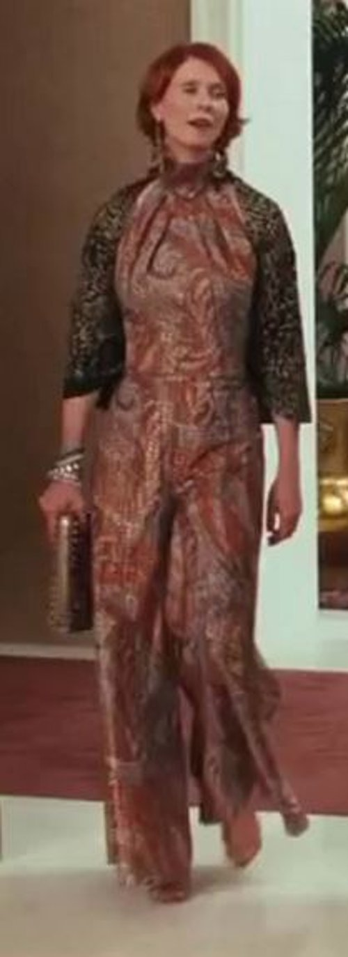 Selected by Patricia Field (Costume Designer) by Vintage Printed Jumpsuit in Sex and the City 2