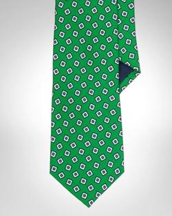Silk Foulard Narrow Tie by Polo Ralph Lauren in Suits
