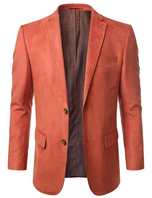 Suede Leather Look Blazer by Mondaysuit in Twilight