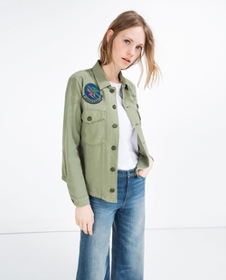 Patch Overshirt Jacket by Zara in Pretty Little Liars