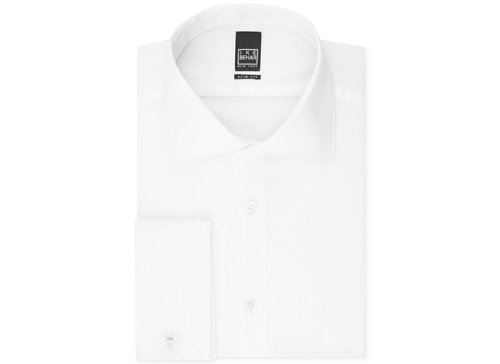 Slim-Fit Solid French Cuff Shirt by Ike Behar in Run All Night