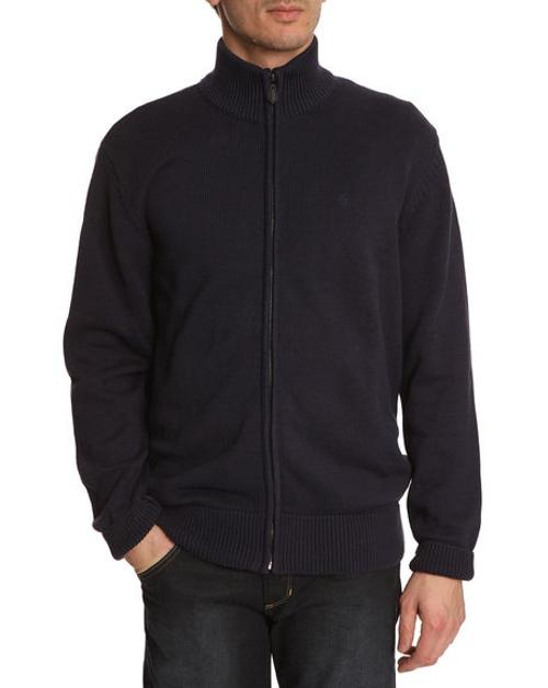Fullzip Navy Cardigan by Wrangler in No Strings Attached