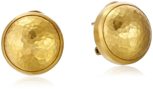 """Amulet"" Yellow Gold Button Earrings by Gurhan in Tomorrow Never Dies"