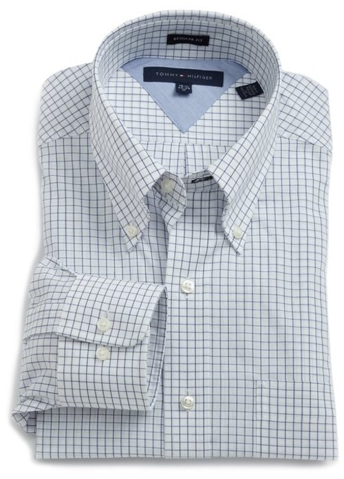 Men's Check Dress Shirt by Tommy Hilfiger in McFarland, USA