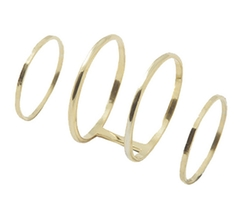Midi Ring Set by Gracelette NYC in Ballers