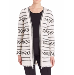 Knitted Wool Topper Cardigan by St. John in Snatched