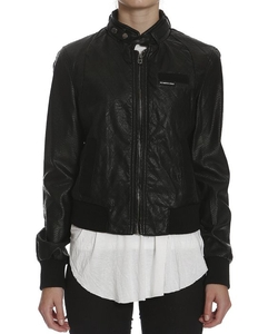 Faux Leather Snakeskin Bomber Jacket by Members Only in Supergirl