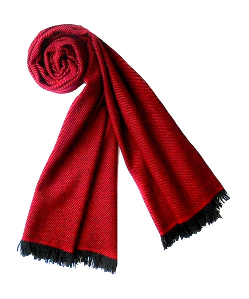 Twill Weave Cashmere Stole Scarf by Plush Cashmere in GoldenEye