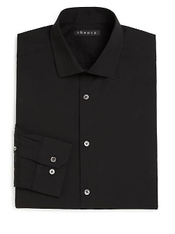 Slim-Fit Dover Luxe Dress Shirt by Theory in Twilight
