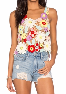 Flower Crochet Tank Top by Wildfox Couture in Fuller House