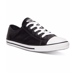 Chuck Taylor Dainty Leather Casual Sneakers by Converse in Dirk Gently's Holistic Detective Agency