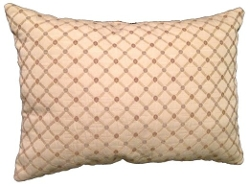 Dotted Brocade Oblong Decorative Throw Pillow by Reynoso Home Decor in While We're Young