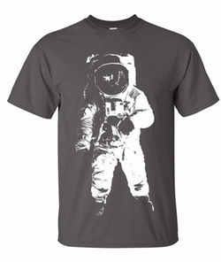 Space Astronaut Man on the Moon T-Shirt by Dolphin Shirt Co. in The Big Bang Theory