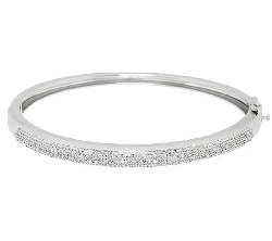 Pave Diamond Hinged Bangle by Dooney & Bourke in Unfinished Business