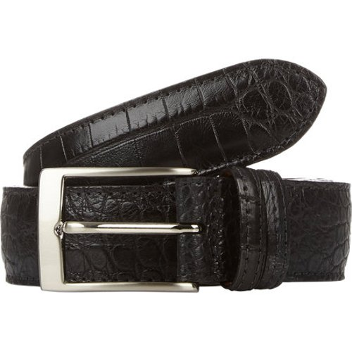 Alligator Belt by Barneys New York in Black or White