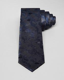 Multi Camo Skinny Tie by Lanvin in Lucy