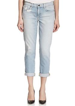 Alexa Distressed Slim Boyfriend Jeans by Genetic Los Angeles in Ballers