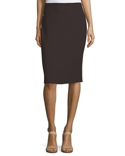 Washable Wool Crepe Pencil Skirt by Eileen Fisher in Suits