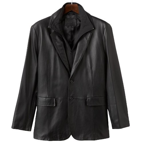 Leather Blazer Jacket by Excelled in Focus