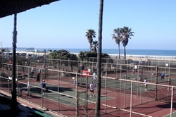 Los Angeles, California by Paddle Tennis Courts in Flaked