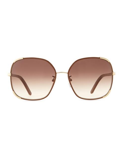 Oversized Sunglasses by Chloe Nerine in Vinyl - Season 1 Episode 1