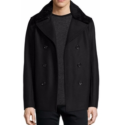 Mouton Cashmere-Blend Peacoat by Vince in The Blacklist