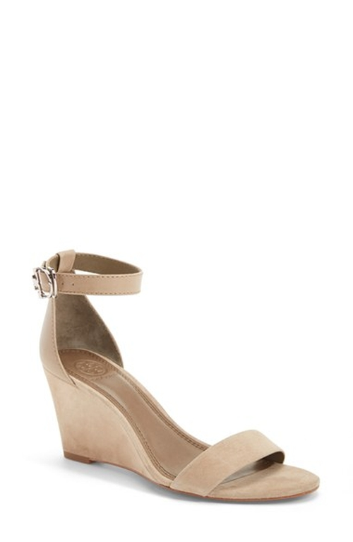 'Thames' Ankle Strap Wedge Sandals by Tory Burch in Modern Family