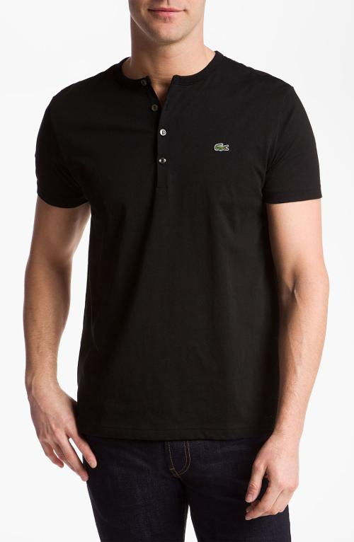Short Sleeve Henley T-Shirt by Lacoste in If I Stay