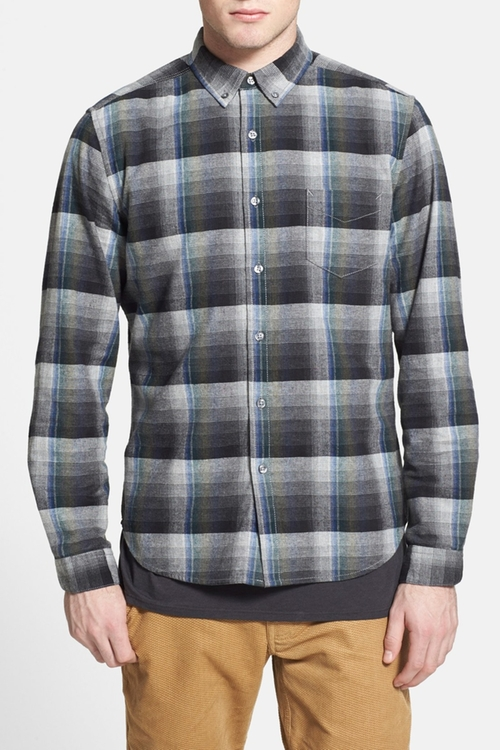 Ojai Brushed Plaid Flannel Shirt by Life After Denim in New Girl - Season 5 Episode 2