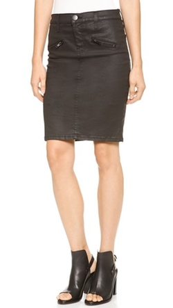 The Soho Coated Stiletto Pencil Skirt by Current/Elliott in Pretty Little Liars