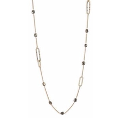Crystal-Encrusted Mixed Stone Station Necklace by Alexis Bittar in Modern Family