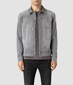 Maxwell Denim Jacket by All Saints in Animal Kingdom
