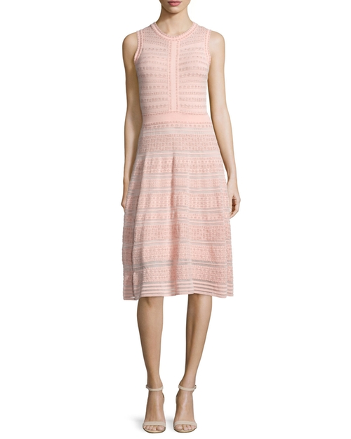 Sleeveless Rivet-Stitch A-Line Dress by M Missoni  in Empire