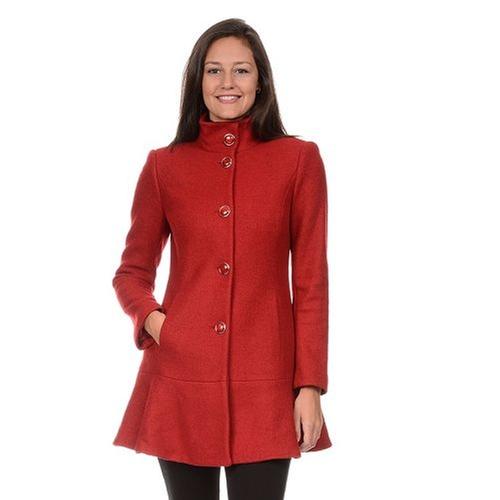 Wool Blend Peplum Coat by Fleet Street in How To Get Away With Murder - Season 2 Episode 4