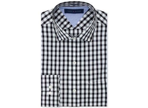 Slim-Fit Check Dress Shirt by Tommy Hilfiger in That Awkward Moment
