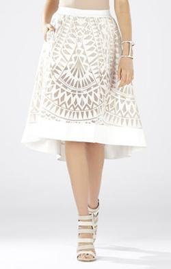 Keary Burnout Lace Skirt by BCBGMAXAZRIA in Pretty Little Liars