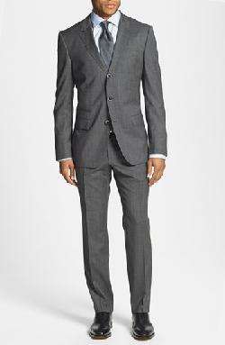 'Havilton/Gense' Trim Fit Three-Button Wool Suit by HUGO BOSS in Oculus