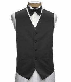 Black Silk Vest by JoS. A. Bank in Mortdecai