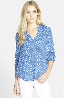 Split Neck Challis Blouse by Velvet by Graham & Spencer in The Big Bang Theory