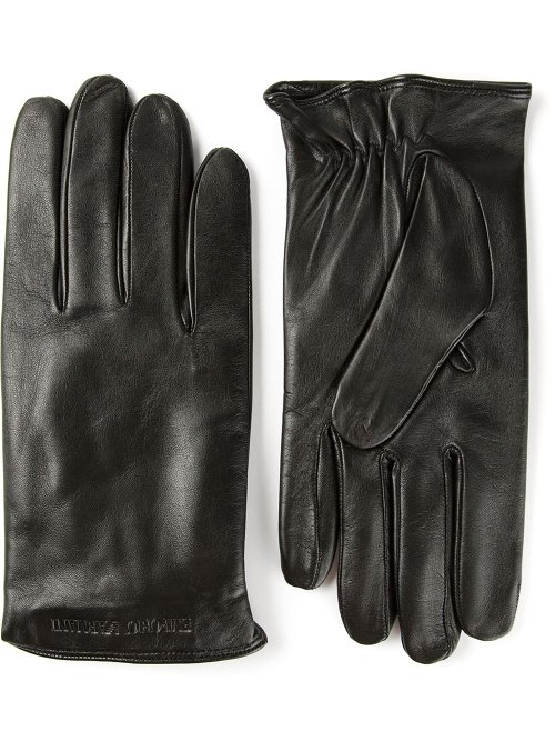 Logo Embossed Gloves by Emporio Armani in The Town