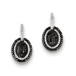 Sterling Diamond Dangle Post Earrings by Forever Flawless Jewelry in The Gambler