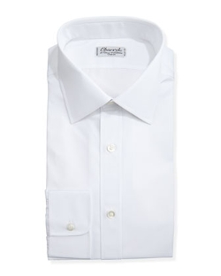 Solid Poplin Dress Shirt by Charvet in Self/Less