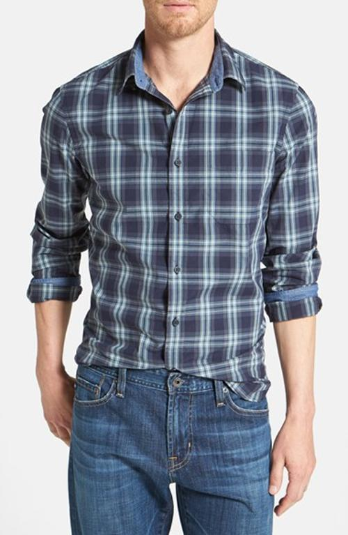 'Signature' Trim Fit Plaid Sport Shirt by Wallin & Bros. in The Purge: Anarchy