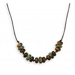 Tiger's Eye and Turquoise Necklace by Generous Gems in The Gunman