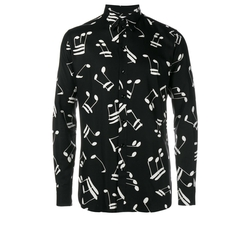 Music Note Printed Shirt by Saint Laurent in Empire