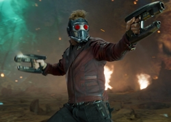 Custom Made Star Lord's Leather Jacket by Judianna Makovsky (Costume Designer) in Guardians of the Galaxy Vol. 2