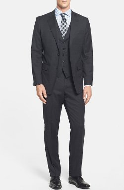 Classic Fit Check Three Piece Suit by John W. Nordstrom in The Secret Life of Walter Mitty