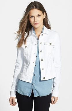 'Vermont' Crop Jacket by Paige Denim in Clueless
