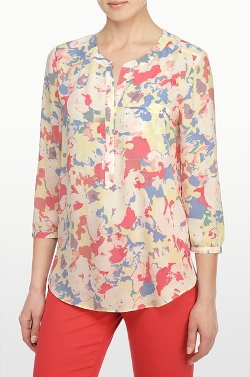 Floral Collage Print Sleeve Blouse by NYDJ in Absolutely Anything